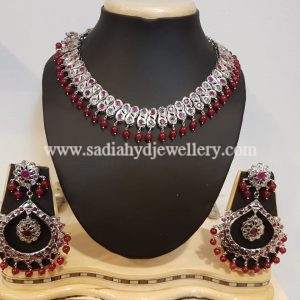 Silver Plated Red Double Barfi Set