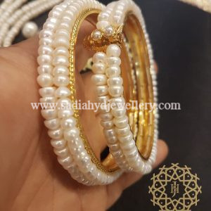 Double Layer Real Pearl Bangle