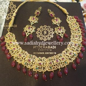 Red Green Arfa Necklace with Red Aveza