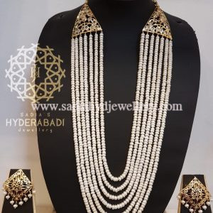 7 layer Real Pearl String with Square Tops