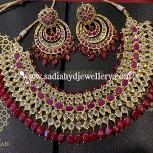 Red Rukhsana Heavy Necklace Set