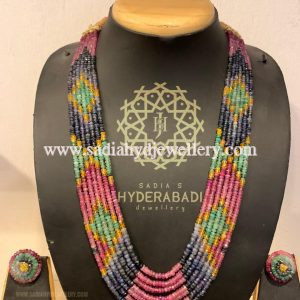 Real Precious Beads String With Bangle and Tops