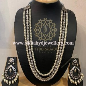 Silver Plated 3 Layer String Set