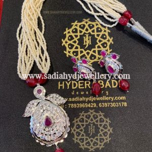 Red Silver Plated Jugni Set