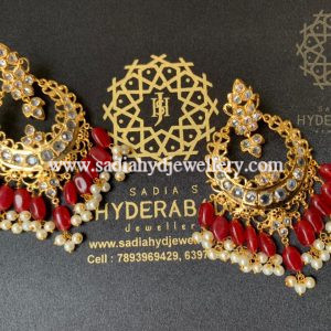 Red Jabeen Earring